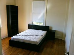 ikea malm bed, malm night stand and billy bookcase assembled in reston va by furniture assembly experts LLC - call
