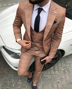 Vintage designer suits for men for the modern man. mens suit designer, mens designer suits on sale, Click VISIT link above for more info Men's Suits, Cool Suits, Style Masculin, Designer Suits For Men, Plaid Suit, Suits For Sale, Herren Outfit, Men Formal, Mens Fashion Suits