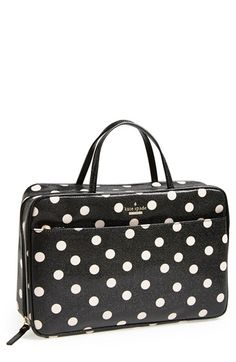 kate spade new york 'cedar street dot - large manuela' cosmetics case available at #Nordstrom