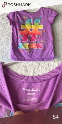 Little Girl's Purple ShortSleeve Shirt W/Glitter Size 3T Garanimals Shirts & Tops Tees - Short Sleeve