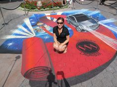 Buick LaCrosse street painting - tracy lee stum