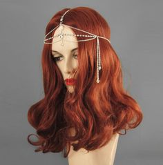 20s style crystal and chain headpiece