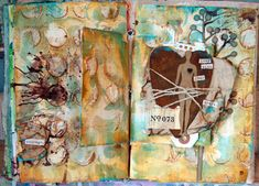 Donna Downey does an art journal video every Wednesday called Inspiration Wednesday, love to watch her 'cause she reminds me so much of how I do things!