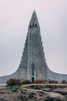 In Reykjavik, Iceland the Hallgrimskirkja Church is the city's main landmark. City Sky, Like Image, Place Of Worship, View Photos, Free Stock Photos, The Good Place, Places To Visit, Tower, Architecture