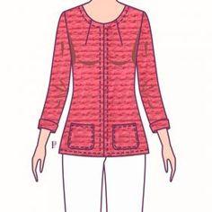 Patrones Técnicos Online - Tienda online de patrones - Patrones a medida Chanel, Long Sleeve, Sleeves, Women, Fashion, Woman Clothing, Pants Pattern, Dress Patterns, Sewing Techniques