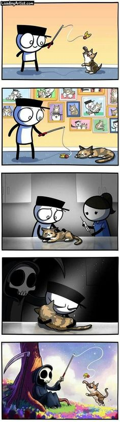 Image Triste, Funny Animals, Cute Animals, Funny Comic Strips, Puppy Birthday, Sad Art, Short Comics, Cute Stories, Funny Comics