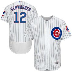 fafaa7388 Men's Chicago Cubs Kyle Schwarber Majestic Home White/Royal Flex Base  Authentic Collection Player Jersey