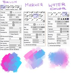 I've been asked to recommend brushes for realistic painting (or whatever painting) so these are my three favourite brush settings The first one is my main brush I paint everything with it and I love it very much! I know you might have a different SAI version so I put the Cloud texture and so on here to download if you need it (just copy into the folders and open SAI via start-sai)