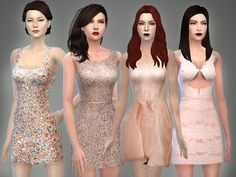 Prom Essentials dress part II by April at TSR • Sims 4 Updates
