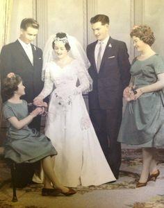 1961 wedding party.