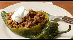 Recipes - Chiles Rellenos with Sweet Picadillo Cooking #Recipes #recipe #cook #food