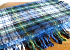 Vintage Faribault Plaid Wool Throw by MarketHome on Etsy, $45.00