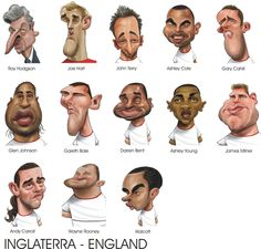 Euro-2012 Caricatures by Ricardo Galvão, via Behance