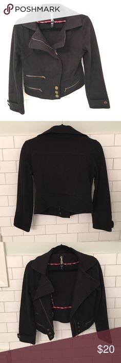 Adorable Cotton motor style black jacket! Soft and comfy motorcycle style jacket made of 100% cotton.  ❌no trades❌ Jackets & Coats