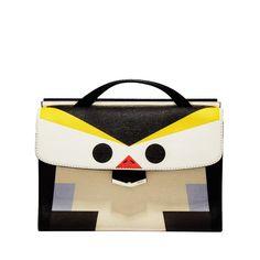 Fendi Bird Mini Shoulder Bag - Color-Block Bag - ShopBAZAAR