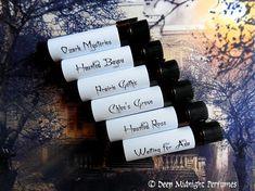 HAUNTED INNS Perfume Sampler Set  by DeepMidnightPerfumes on Etsy