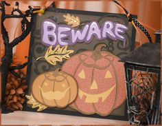 Get a jump on October home decor with this foreboding decoration!  Perfect to hang near your front entryway at home, in your classroom or even in your office to warn of Halloween dangers.