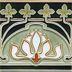 Wall tile Art Nouveau WINE LEAVES