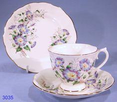 morning glory porcelain | Royal Albert Friendship Morning Glory Bone China Tea Cup, Saucer and ...
