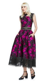 6d1a0b547f9d0 Natalia Dress. Tadashi ShojiLace InsetLace  BodiceSequinsPurpleGownsFloralSkirtsTea Length Dresses