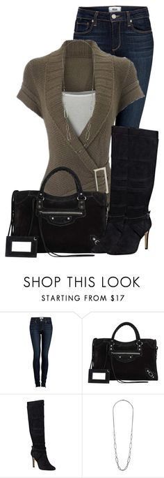 """""""Untitled #493"""" by denise-schmeltzer ❤ liked on Polyvore featuring Paige Denim, Balenciaga, GUESS and Dorothy Perkins"""