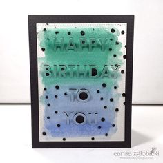 Inky Fairy Designs: MFT Stamps: Watercolor Pop Up Birthday Card