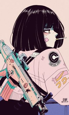 Tagged with art, anime, fantasy, cyberpunk; Shared by Art by vinne( Anime Style, Aesthetic Art, Aesthetic Anime, Aesthetic Drawing, Anime Art Girl, Anime Guys, Dark Anime Girl, Manga Art, Arte Cyberpunk