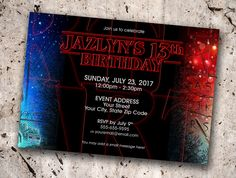 Stranger Things Personalized Birthday Invitation