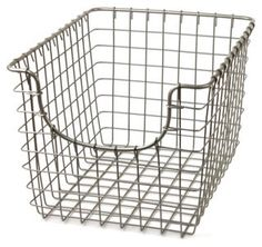S/2 Small Scoop Baskets, Satin Nickel