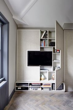 Storage friendly TV wall Elegant, Contemporary, and Creative TV Wall Design Ideas