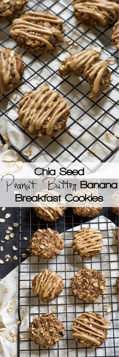 Peanut Butter Banana Breakfast Cookies are ready in 15 minutes, only take one bowl and are a delicious and dessert-like breakfast treat to start your day! #glutenfree #vegan #onebowl #breakfast