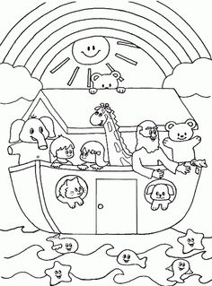 "Promises Of God Coloring Sheet | Song: ""Who Built the Ark?"" #29 on Wee Sing Bible Songs"