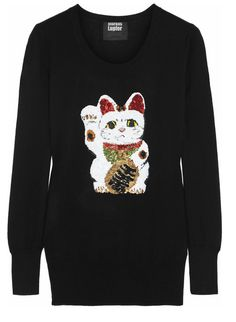 Net-à-Porter PE2014 Sweat noir Lucky Cat