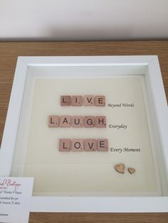 Scrabble Love Family Frames by MyBelovedBoutique on Etsy