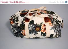 SALE Vintage 1990s Floral Canvas CAPIZIO by IndieStyleSociety, $22.08