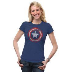 Captain America Logo Fitted Ladies' Tee | ThinkGeek