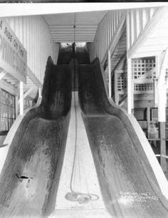 Fontaine Ferry Park slide, Louisville, Kentucky, 1927. :: Caufield & Shook Collection