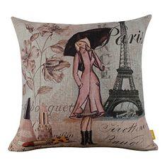 LINKWELL Paris Lady Eiffel Tower Perfume Cushion Cover Pillow Case LINKWELL http://www.amazon.com/dp/B00C0BVL6Y/ref=cm_sw_r_pi_dp_2hnFvb116SRWZ