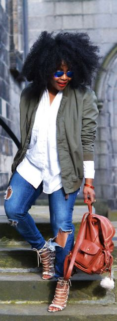 Denim And Basic White Tee / Fashion By No Ordinary She