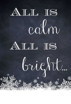 Chalkboard art quote Toni Kami  Joyeux Noël   All is calm all is bright Christmas