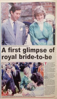 May 9, 1981: Prince Charles and his fiance, Lady Diana Spencer open a special exhibition at Broadlands, the home of the late Lord Mountbatten.