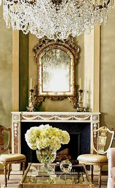Baroque inspired mantle