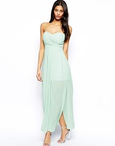 Buy TFNC Maxi Dress In Pleated Chiffon at ASOS. Get the latest trends with ASOS now. Stunning Wedding Guest Dresses, Wedding Party Dresses, Sexy Dresses, Nice Dresses, Fashion Dresses, Chiffon, Dress Me Up, New Dress, Bridesmaid Dresses Under 100
