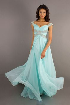 2014 Dresses V Neck Floor Length Chiffon Off The Shoulder V Back Zipper Up. This same type of style one another bridesmaid but in deep purple or dark teal! Prom Dress 2014, Beaded Prom Dress, Prom Dresses Blue, Cheap Prom Dresses, Pageant Dresses, Homecoming Dresses, Party Dresses, Occasion Dresses, Dresses 2014