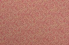 Cotton Fabric Leaf Fabric Leaves Beige and Maroon Cotton www.thefabricscore.etsy.com