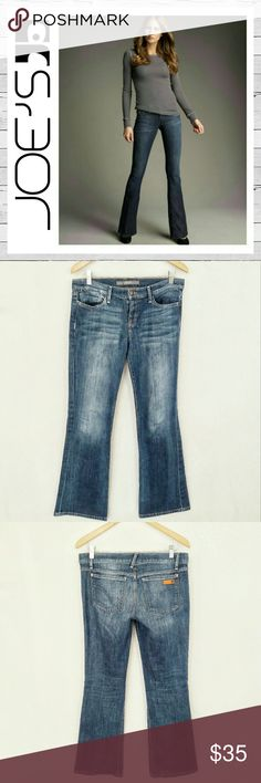"""Joe's Jeans Provocateur Petite Bootcut Renee Sz 28 The Provocateur Bootcut in Renee is a stretch denim in a medium wash with shadow faded whiskers and hand sanded details. This midrise bootcut has a shorter inseam that's adjusted to fit a petite frame while elongating the leg. Very good previously loved condition. 31 1/2"""" inseam. 8 1/2"""" rise. Bundle and save!  Sorry no trades. Joe's Jeans Jeans Boot Cut"""