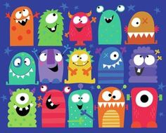 My monster by decs for the fall semester! Cartoon Monsters, Cute Monsters, Monsters Inc, Little Monsters, Little Monster Party, Monster Birthday Parties, Monster Crafts, Monster Art, Art For Kids