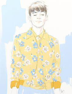 Marc Jacobs Men's SS14 illustration by ANMOM