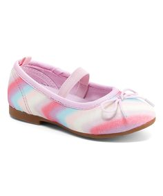 Take a look at this Pink & Blue Chevron Audrey Ballet Flat today!