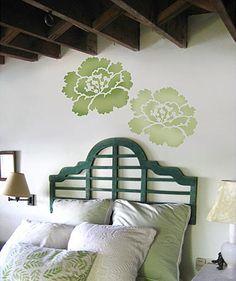 Large accent flower stencil  #CuttingEdgeStencils  #stencils